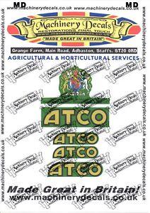 ATCO 14 MOWER DECALS SET