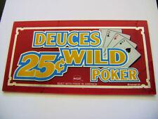 IGT. Slot Machine Insert. Poker Glass. DEUCES WILD. 25 cent. 002.