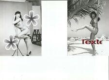 LOT 2 PHOTOS BETTY PAGE LA PIN UP VEDETTE DES ANNEES 50 (reproductions )