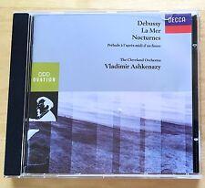 CD: DEBUSSY  La Mer Nocturnes VLADIMIR ASHKENAZY Cleveland Orchestra