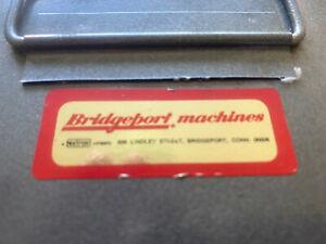 Bridgeport. machines extron company