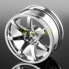 4x RC 1/10 On-Road Drift Aluminum SILVER 616 Wheel Rim For HSP RedCat Himoto HPI