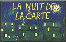 """CARTE D'ENTREE OPERA COMIQUE DE PARIS """"la nuit de la carte et de la finance"""""""