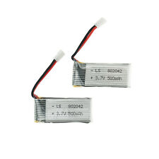 x2 3.7V 500mAh 802042 Lipo Battery JJRC H37 H31 Eachine E50 RC drone quadcopter