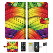 Patterned Mobile Phone Wallet Cases for Huawei P8 lite