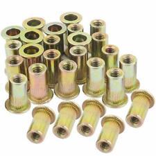 1/4-20 Rivet Nut Threaded Insert Nutsert Rivnuts 1/4-20UNC Carbon Steel 100PCS