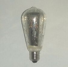 ST64 LED 4 vatios Bombilla E27 Blanco Cálido 2700K Vintage Plata rociado Decorativo