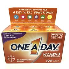 One A Day Women's Formula Multi Vitamin 100 tablets Free Shipping Exp.08/2021