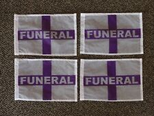 Lot of 24 Funeral Flag ORANGE-BLACK new HEARSE Funeral Coach Limo car halloween