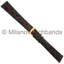 19mm Morellato Genuine Crocodile Brown Tone Watch Strap Band Mens 0042 LONG