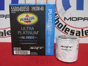 DODGE HELLCAT 6.2L 6QT Full Syn Pennzoil Motor Oil & Filter NEW OEM MOPAR