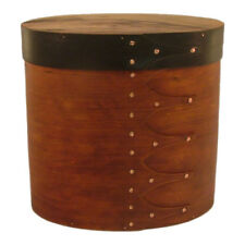 Cherry and Hackberry Burl Wood Cremation Urn in Shaker Style (Up to 123 Lbs)