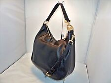 Michael Kors Fulton Lg Top Zip Shoulder / Hobo Bag Pebbled Leather Black -328.00