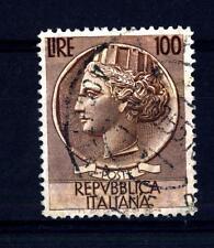 "ITALIA REP. - 1954 - Serie ""Italia Turrita""- ""Siracusana"" - Filigrana ruota 100L"