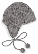 *NEW* J.Crew Women's Ribbed Wool-Blend Trapper Hat - One Size - Heather Gray