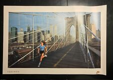 Vintage Nike Running Poster_Equinox-Brooklyn Bridge-WTC