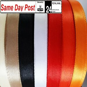 Satin Ribbon 10mm wide x 50 meters for craft trim decorations wrapping gifts
