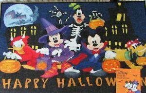"Disney Halloween Accent Rug 20"" x 32"" Happy Halloween Mickey & Friends Fab 5 NWT"