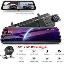 """10"""" 1080P HD Car Stream Media DVR Dual Lens Cameras Dash Cam 170° Wide Angle"""