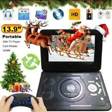 "13.9"" TV Player  Portable DVD Player HD CD FM Radio 16:9 LCD Games Screen Play"