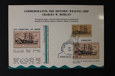 Fisherman's Wharf expo 1972 Whaling ship stamp reprint Souvenir page card show