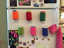 6 Magnetic Koozies Coozies Can Holders Holiday Gift, Tailgate, Beer, Golf BBQ
