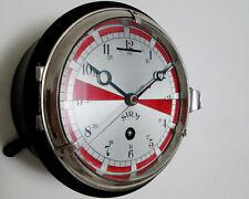 SIRM 256 Marine Ship Wall / Deck 18cm Key-Winding Clock 15-days with a full wind