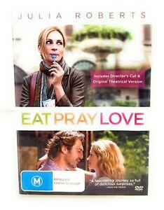 Eat Pray Love (DVD, 2010) Julia Roberts Region 4 Free Postage