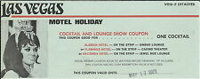MA-067 Motel Holiday, Las Vegas, NV Free Cocktail Coupon, Expired 1971 Vintage