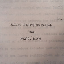 Boeing B-29A Superfortress Flight Operations Manual
