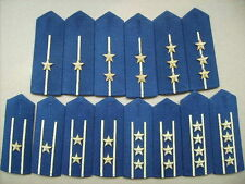 07's series China PLA Air Force Officer Full Dress Hard Shoulder Boards,7 Pair