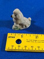 Antique VTG Ceramic Porcelain Poodle Figure Mini Made in England