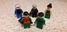 Lego Minifigures Batman Related Robin Poison Riddler Freeze Commissioner Gordon