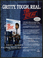 THE BEAT__Orig. 1989 Trade print AD promo__JOHN SAVAGE_WILLIAM McNAMARA_Cro-Mags