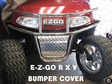 Ezgo RXV golf cart Highly Polished Aluminum Diamond Plate Front Bumper Cover....