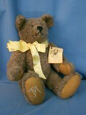 "10"" Teddy Bear Gray Maxwell Bear Co 1985 Jm Vintage Handmade Fuly Jointed"