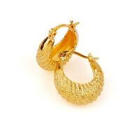 Elegant & Stylish 18k Gold Plated Medium Size Hoops Earrings E343