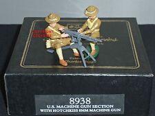 BRITAINS 8938 US ARMY HOTCHKISS 8MM MACHINE GUN + CREW METAL TOY SOLDIER SET