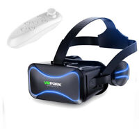 Google Headset 3D Virtual Reality VR Glasses + Remote Controller For iPhone 6 XR
