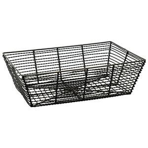 """Trapezoid Black Metal Fruit Basket Multi Purpose Kitchen Home Organizer Bin 12"""""""