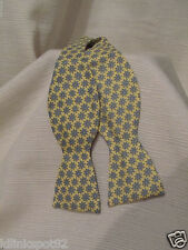 Vineyard Vines Ship Wheels Yellow Classic Bow Tie-FREE INDOOR WHALE STICKER