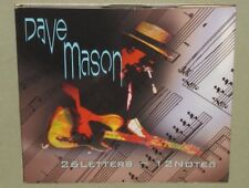 DAVE MASON 26 Letters 12 Notes SIGNED x 2 2008 CD Johnne Sambataro Autographed