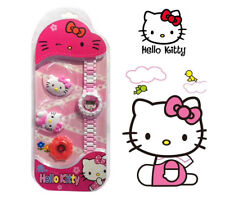 Hello Kitty Exchangeable Cartoon Cover Case Toy - Girl Electronic Digital Watch