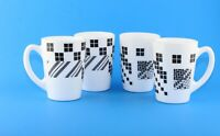Ikea - White & Black Sammankoppla Thai design Coffee Mug Tea Cup Tempered Glass