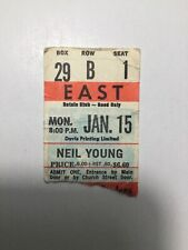 1971-72 Neil Young Rare concert ticket stub