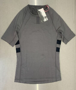 Rapha Brevet Base Layer Short Sleeve Carbon Grey Black Small New With Tag