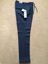 """Next Tailoring Men's Slim Fit Navy Blue Pleated Trousers, 32L, W32"""", L33"""", £35"""