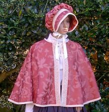 Ladies Victorian CAPE  costume fancy dress UK size 16-20 rust colour