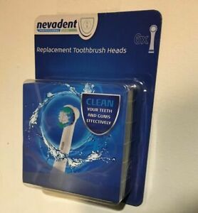 Nevadent Electric Toothbrush Replacement Heads Model NZAOD600A1 LIDL