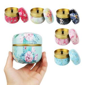 Tea Box Jar Storage Holder Sweetmeats Candies Tin Container Multifunctional ^BI